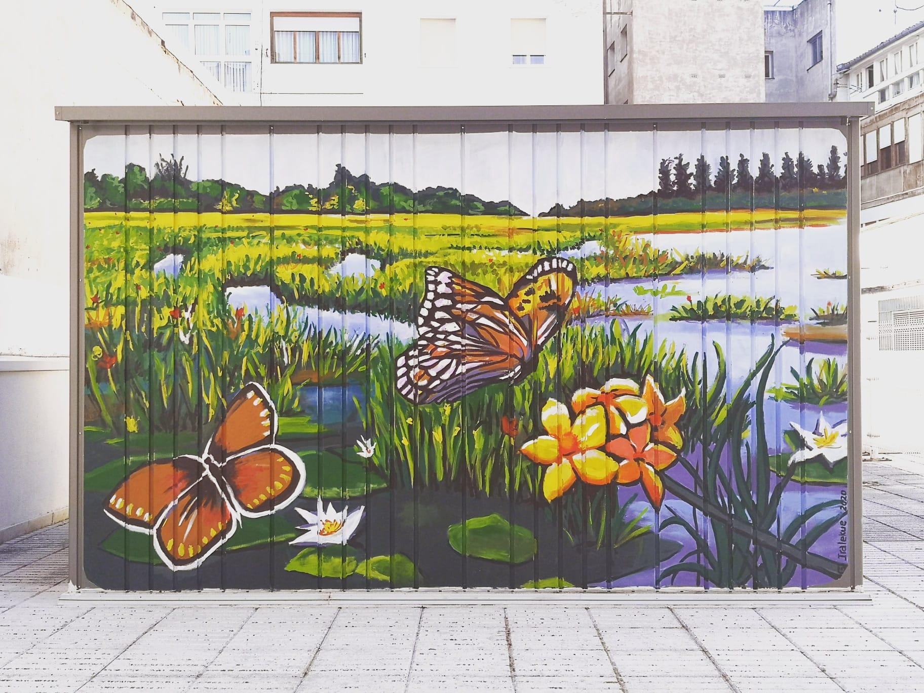 Mural personalizado Terraza vivienda - Amárica1